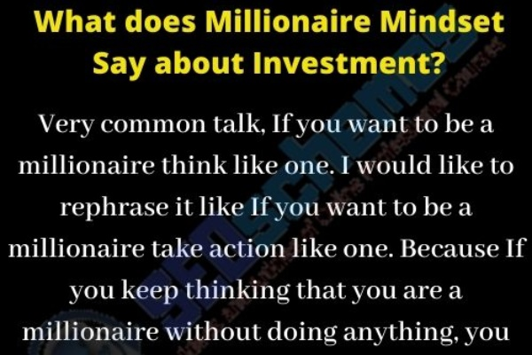 What does Millionaire Mindset Say about Investment