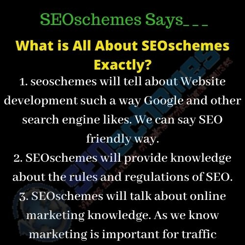 What is All About SEOschemes Exactly
