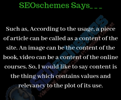content Marketing SEOschemes